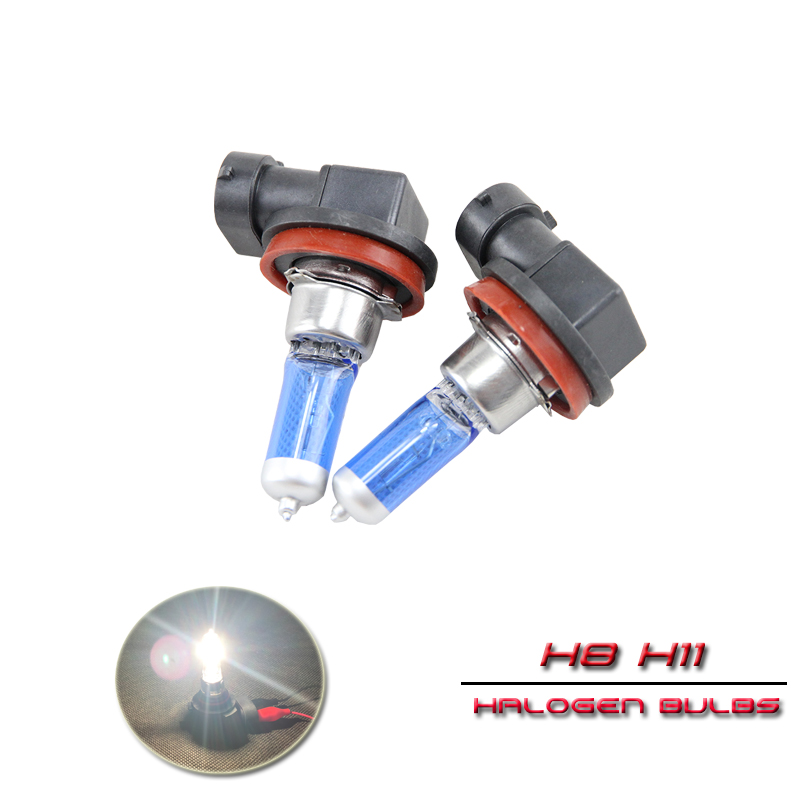 <font><b>Halogen</b></font> Light Bulbs <font><b>H8</b></font> PGJ19-1 / H11 PGJ19-2 12V 55W 6500K Clear <font><b>White</b></font> For Auto Car Driving Front Head Light Bulbs Lamp image
