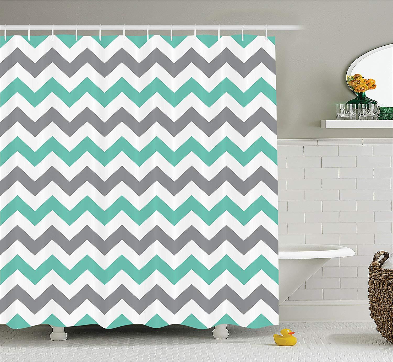 Chevron Shower Curtain Pattern