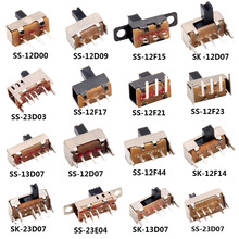 Slide-Switch Power-Supply Mini 12D00 5PCS Horizontal Fluctuation-Band SS Single 2/3-File
