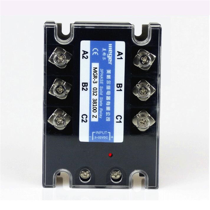 Three-phase alternating current DC controlled 380V solid state relay 100A MGR-3 SSR 032 38100Z mager genuine new original ssr 80dd single phase solid state relay 24v dc controlled dc 80a mgr 1 dd220d80