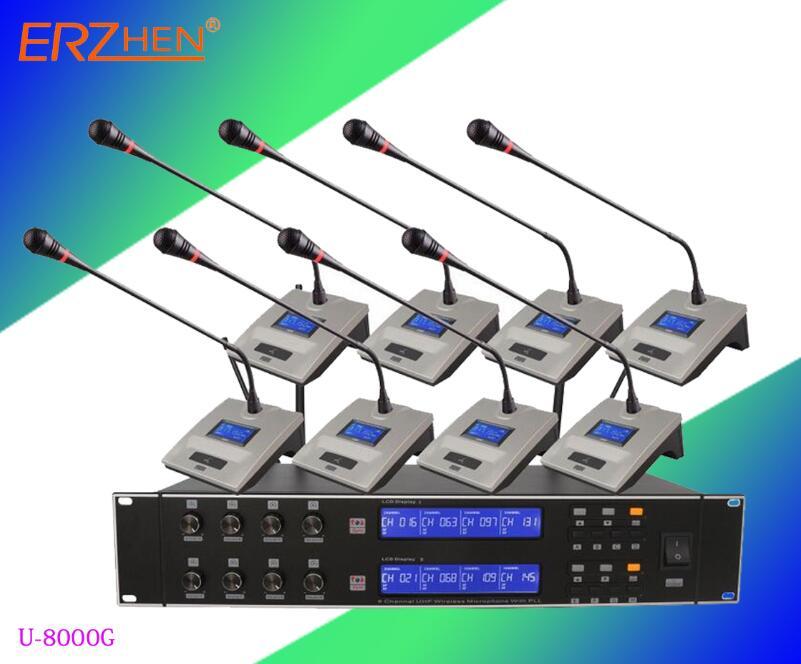 Venda quente U-8000G Alta Qualidade Profissional Microfone Sem Fio Sistema de Microfone Sem Fio Microfone Sem Fio