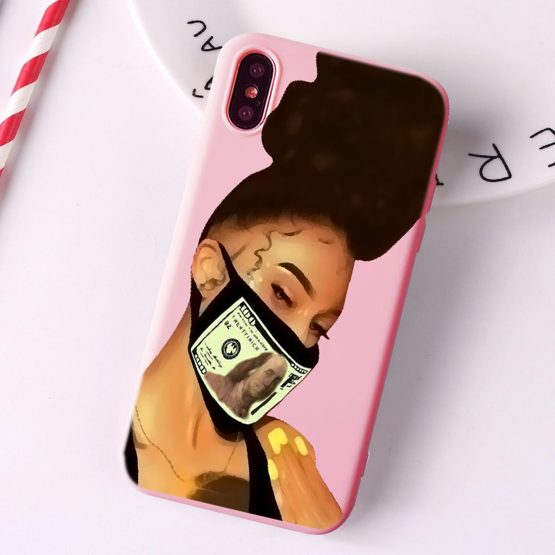 Сделай деньги наличные черная голова девушка чехол для телефона Fundas для iPhone 11 Pro Max X XR XS 8 7 6s Plus матовый карамельный розовый Силиконовый чехол s - Цвет: TPU
