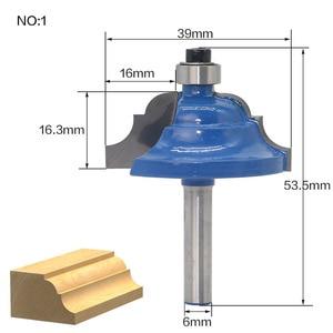 Image 4 - 1 ชิ้น 6 มิลลิเมตร Shank wood router bit Straight end mill trimmer ทำความสะอาด flush trim มุมรอบ cove กล่อง bits เครื่องมือตัด