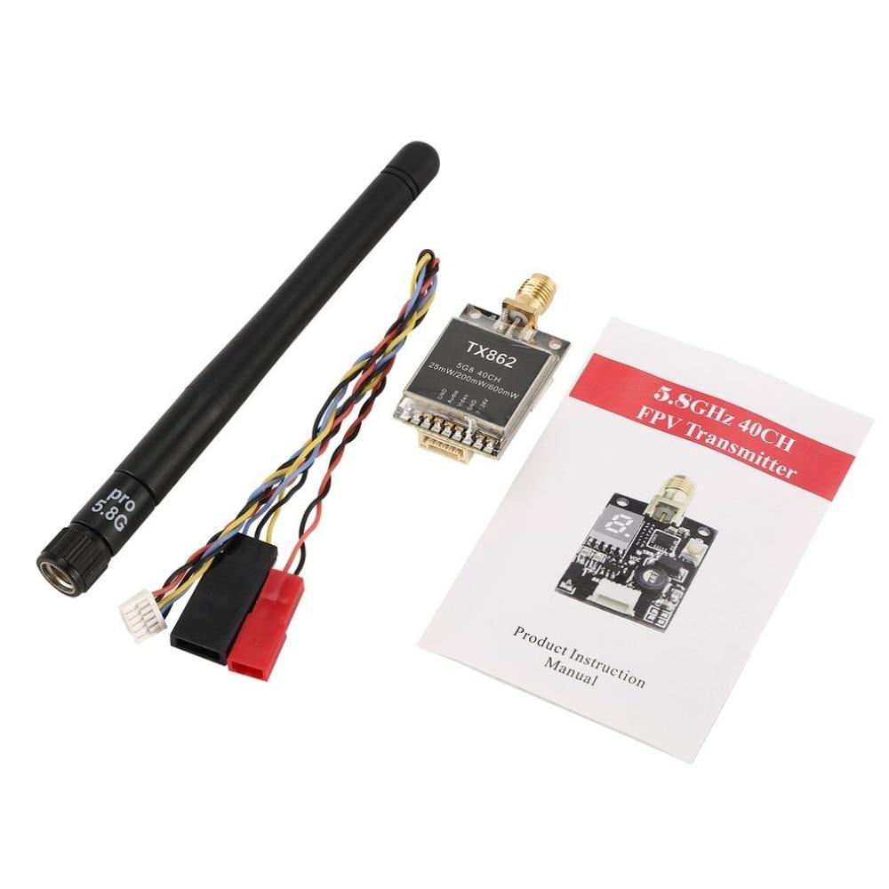 TX862 5,8G 25 mw/200 mw/600 mw 40CH Mini FPV inalámbrico AV módulo transmisor RC FPV Quadcopter de Multicopter Drone fz