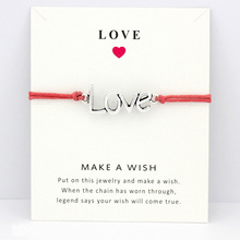 Love Double Hearts Love Antique Silver Charm Card Bracelets Navy Coral Wax Cords Women Men Girl Boy Jewelry Christmas Gift my best friend forever hope faith love charm card bracelets gray brown blue wax cords women men girl jewelry christmas gift