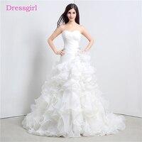Cheap Vestido De Noiva 2018 Wedding Dresses Mermaid Sweetheart Organza Ruffles Boho Plus Size Wedding Gown