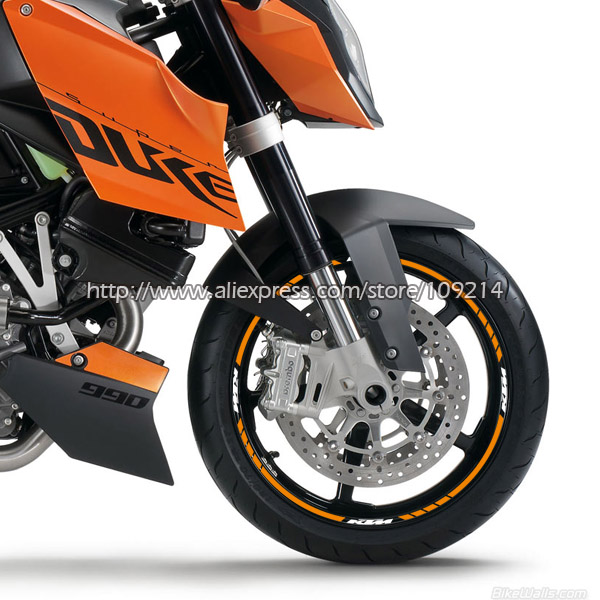 16 Bandes Pour Duke 200/390/690/990/1290/RC8/RC390 jante de roue de moto autocollant Stickers Étanche Convient pour 17-inch pneus