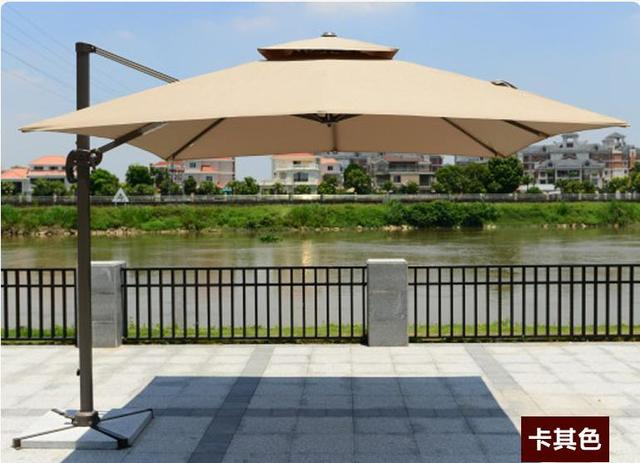 3m Leisure Waterproof Garden Cafe Outdoor Patio Square Umbrella U0029b