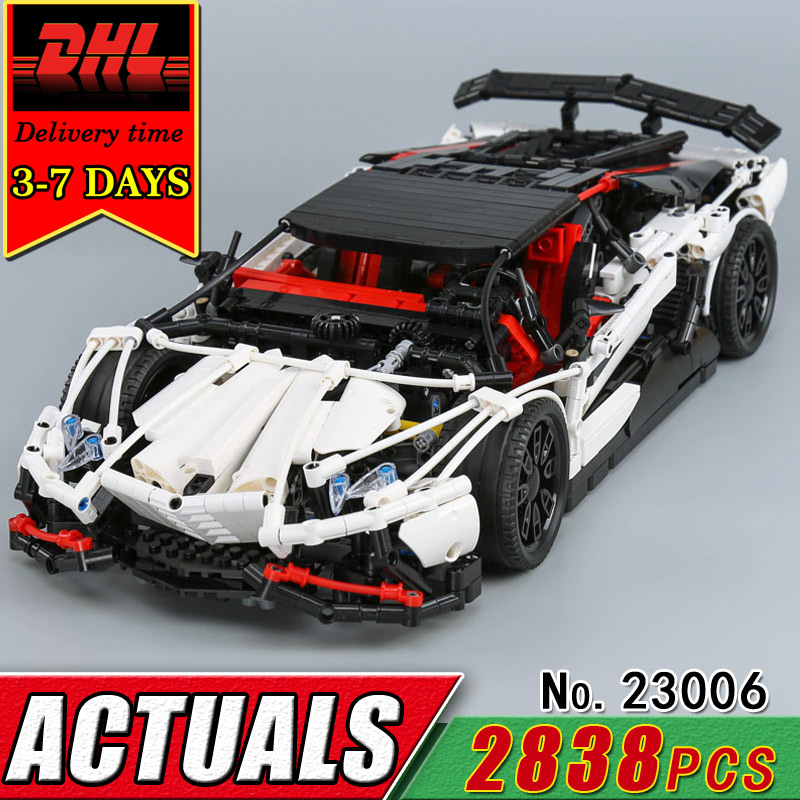 DHL LEPIN 23006 Technic Series The Super Racing Car MOC-3918 Model Building Blocks Children Compatible Bricks Classic Toy Gift lepin 20031 technic the jet racing aircraft 42066 building blocks model toys for children compatible with lego gift set kids
