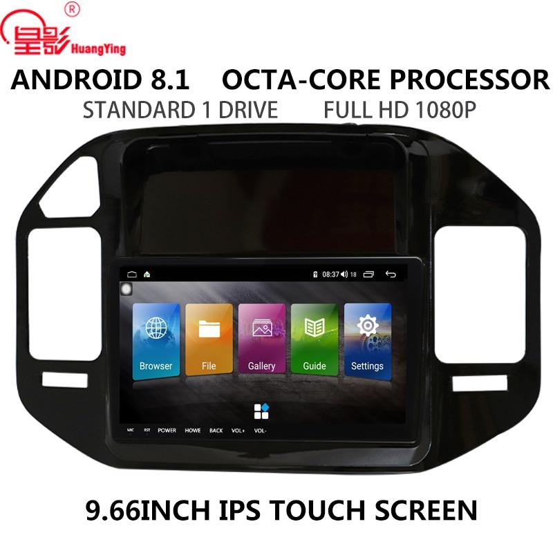 Ips 9.7 polegada android 8.1 rádio do carro câmera traseira sem dvd 2din multimídia vídeo gps navegação player para mitsubishi pajero v73 v68