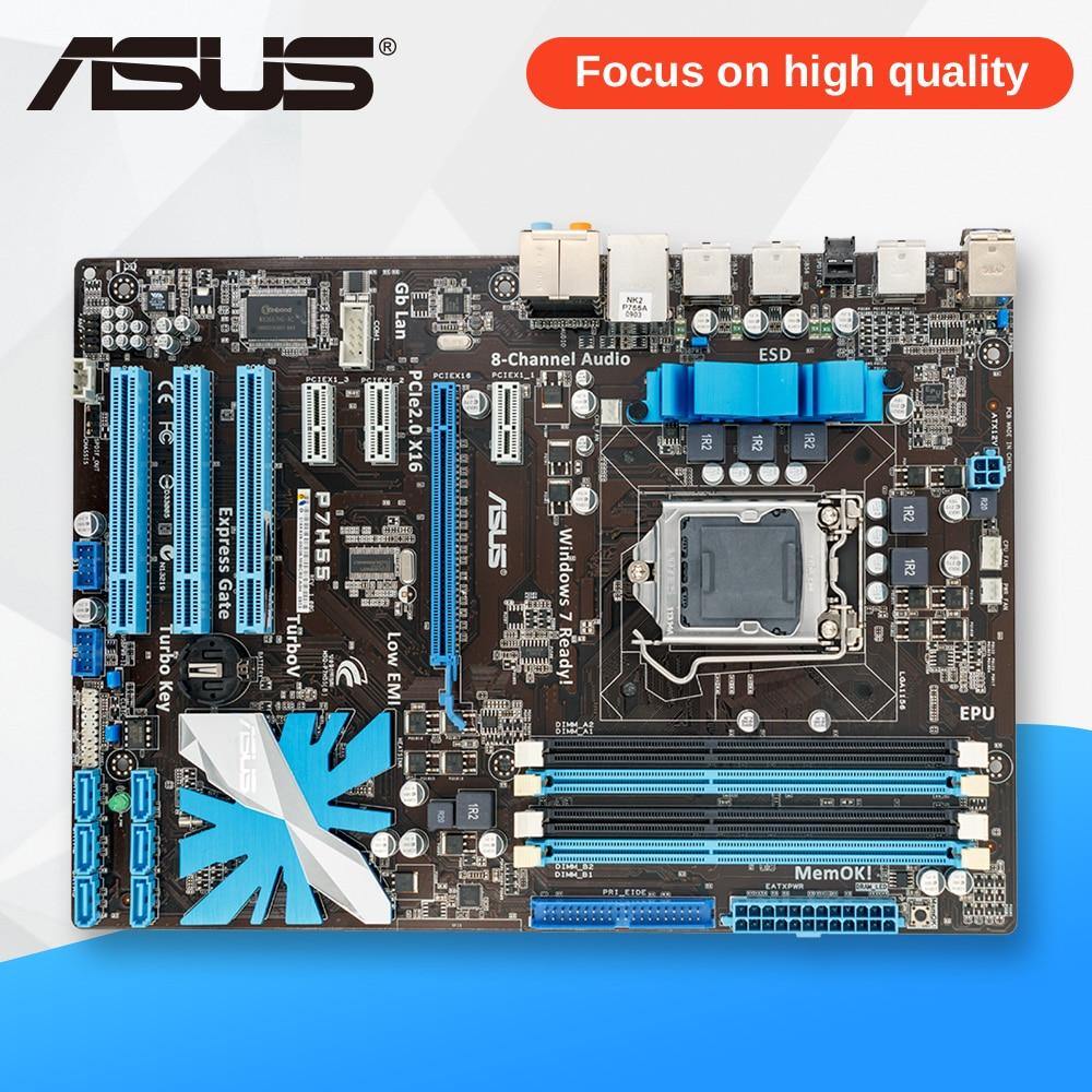 Asus P7H55 Desktop Motherboard H55 Socket LGA 1156 i3 i5 i7 E3 DDR3 ATX On Sale