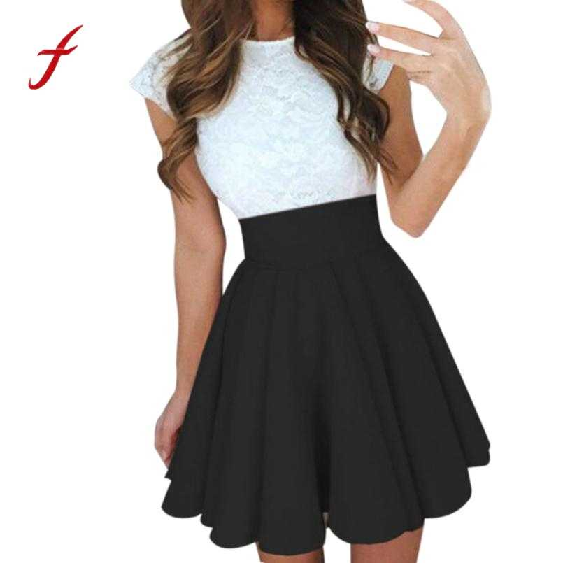 a768db724 Detail Feedback Questions about Feitong Sexy School Girls Short Skirts  Womens A Line Party Cocktail Mini Skirt Ladies High Waist Pleated Skater  Skirt Saia ...