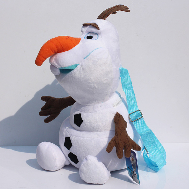 New 40cm Olaf Plush Backpack Bags Stuffed Snowman Animals Bag Suitable For S Children