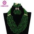 Últimas Nigeriano Coral Beads Necklace Set Para La Boda Joyería de Traje Africana Set Joyería Nupcial Regalo Verde Envío Gratis CJ527