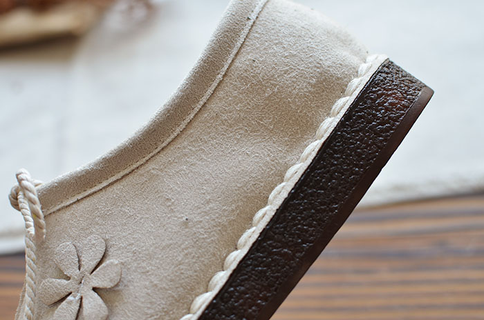 2018 autumn new mori literary retro flat single shoes Japanese suede wild casual shoes classic women's shoes 5