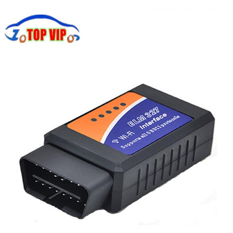 Цена за DHL бесплатная 20 шт./компл. высокое качество ELM327 WI-FI OBD2 автоматического сканирования диагностический инструмент ELM 327 Wi-Fi Поддержка Android и IOS ELM327 wi-fi