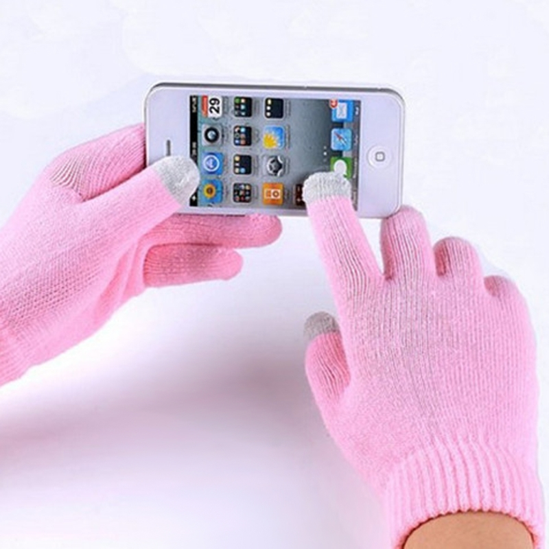 Magic Touch Screen Gloves Smartphone Texting Stretch Adult One Size Winter Warmer Knit Hot Winter Outdoor Unisex Gloves