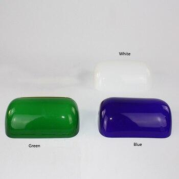 โคมไฟตั้งโต๊ะ Led Retro Vintage สีเขียว/สีขาว/สีฟ้าแก้ว Banker โคมไฟ/ธนาคาร