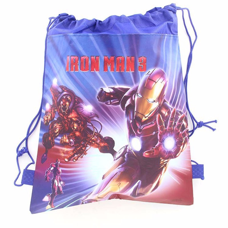Iron Man Children s Schoolbag Cartoon Children s Drawstring Backpacks for Young Kids Girl font b