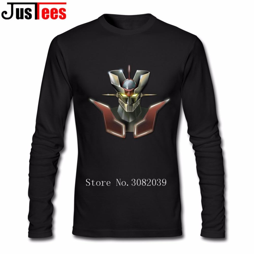 Men's Hiphop MAZINGER Z Man T Shirt Free Shipping Men's T-shirts Cotton Crewneck Long Sleeve Funny T-shirts