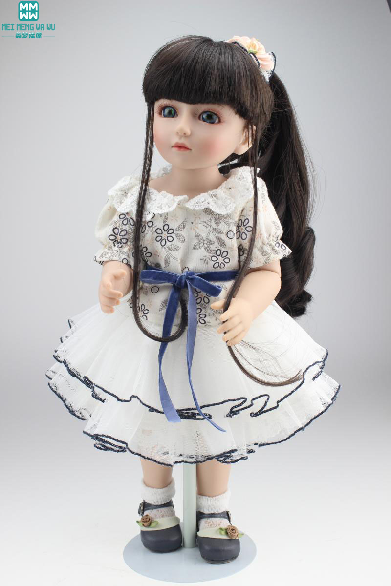45cm Silicone baby dolls/baby Mini SD / BJD simulation super cute Dress Up Doll for girl princess gift