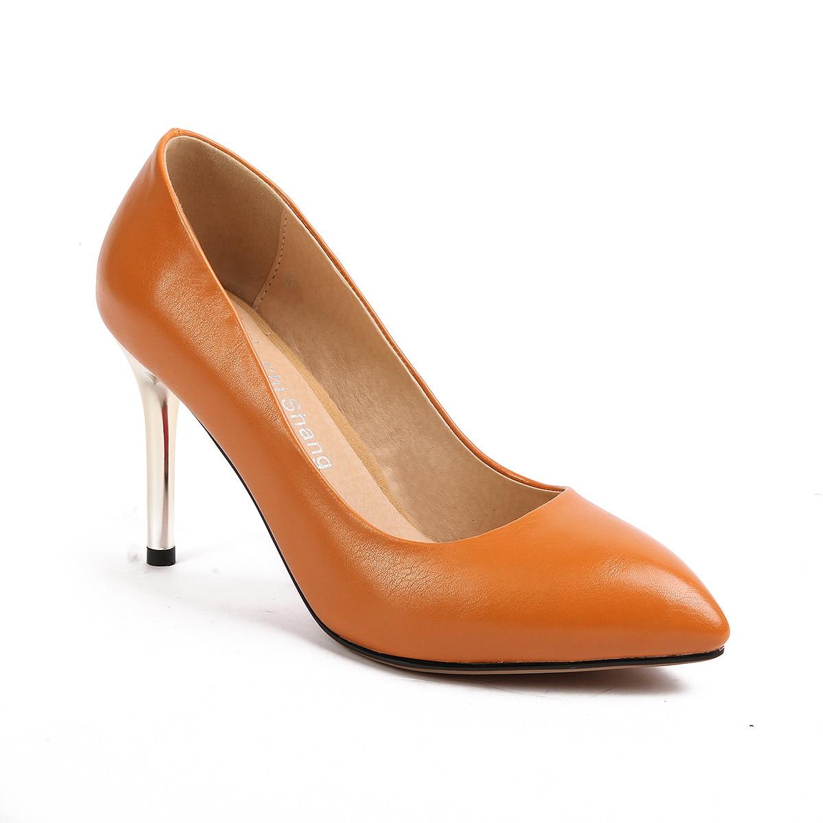 Talon 43 Femmes Sexy Bouche Super 32 Simples Mode High gris Pointu Début De Peu Noir jaune Chaussures Stiletto Profonde Printemps 2018 Au Nouveau Du 1831 nqapv