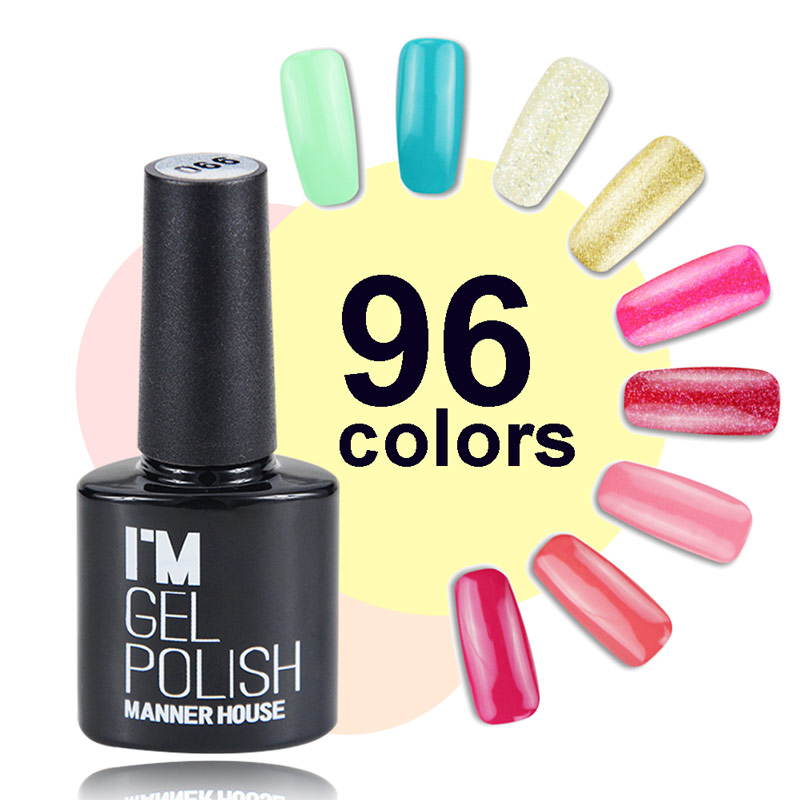 MANNER HOUSE 96 Colors Rose Quartz Serenity UV Gel Base Top Coat UV Lampa Nail Art Design Hot Sale Nail Gel Lacquer # 59- # 87