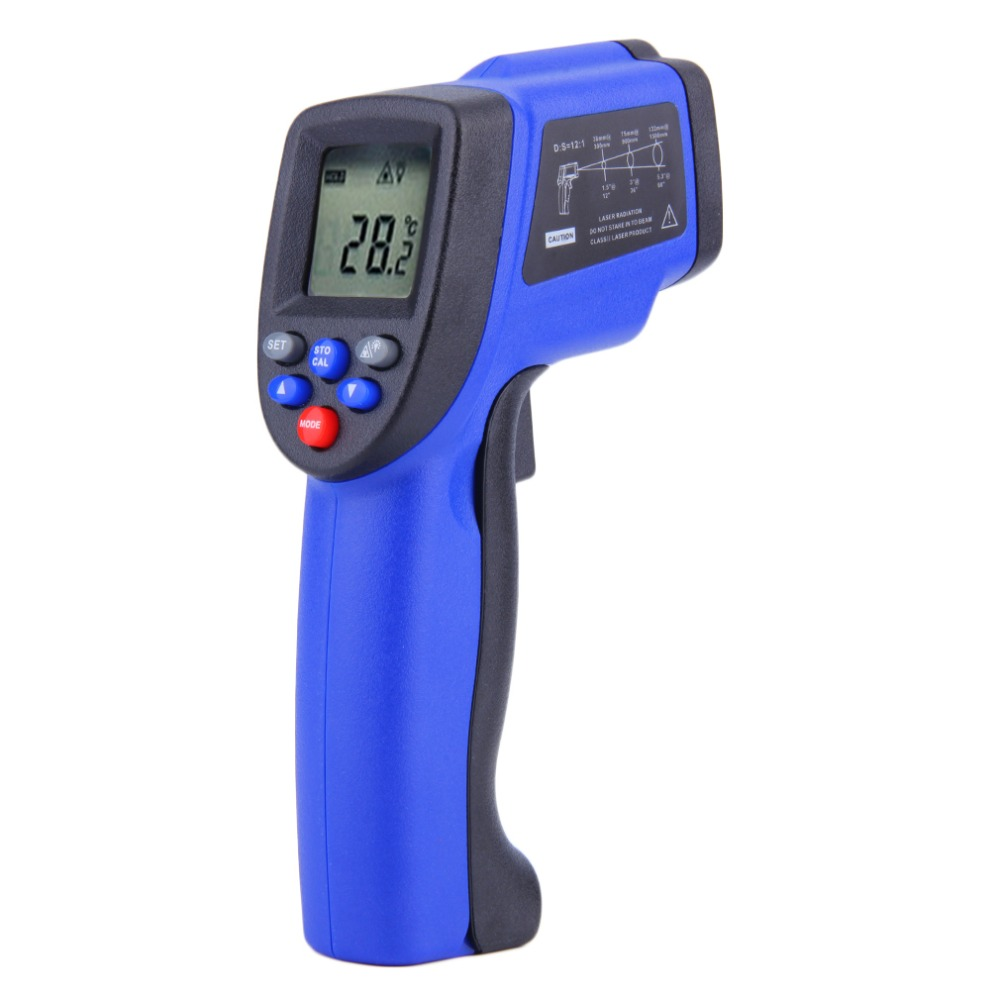 1Pc Hot Non-Contact IR Infrared Digital Laser Thermometer Auto Power Shut Off Data Hold -50~900 Degree Stock Offer hot for thermostat thermal camera offer precise non contact digital ir infrared thermometer 50 to 900 degree laser gun gm900
