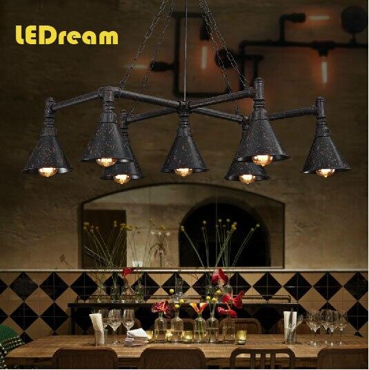 Loft retro restaurant industrial country pub lighting lamps The sitting room the bedroom conduit droplight