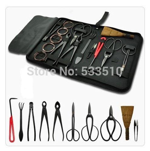 Brand new bonsai tools set multi-function bonsai kit 10-piece set Carbon Steel Shear Set and Tool Kit /Roll Wires
