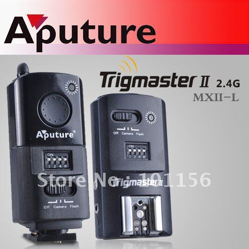 Aputure Trigmaster II MXII-L Falsh Trigger with 16 channels for high voltage flash for Olympus aputure 16 channel flash speedlite