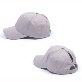 Ponytail Baseball Cap Women Snapback Cotton Caps Ladies Summer Cap Black White Grey Pink Hats Hip Hop Fitted Hats for Women 10