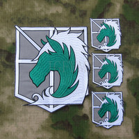 Grey Background Color Design Attack On Titan Military Police Corps Big Back Of The Body Embroidery