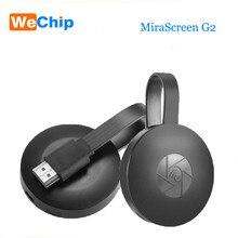Wechip MiraScreen G2 bâton de télévision sans fil Dongle bâton de télévision 2.4GHz 1080P HD chrome cast prise en charge HDMI Miracast Airplay pour Android iOS