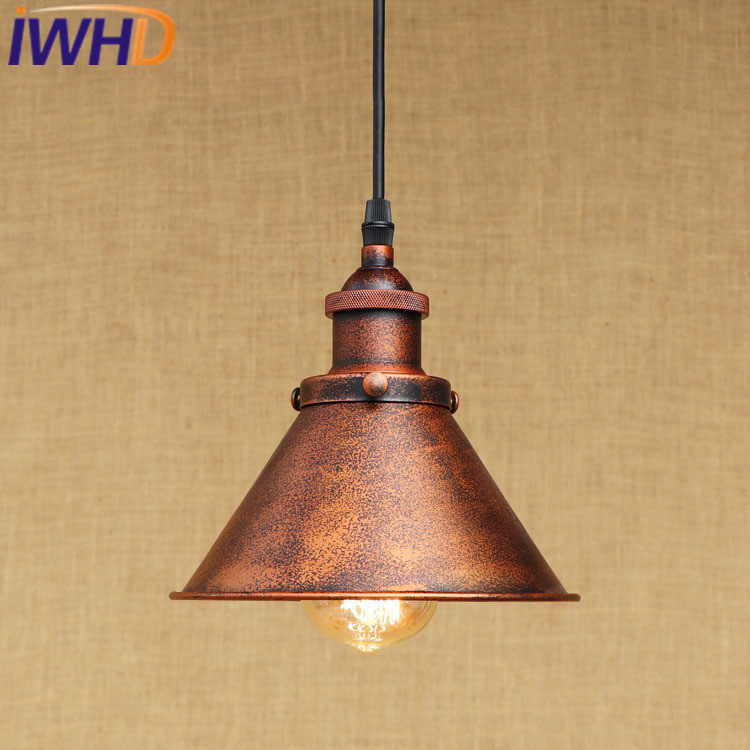 IWHD Vintage Industrial Hanging Lamp LED Iron Retro Pendant Light Fixtures Loft Style Kitchen Dining Bar cafe Pendant Lighting loft vintage industrial pendant light fixtures copper glass shade pendant lamp restaurant cafe bar store dining room lighting
