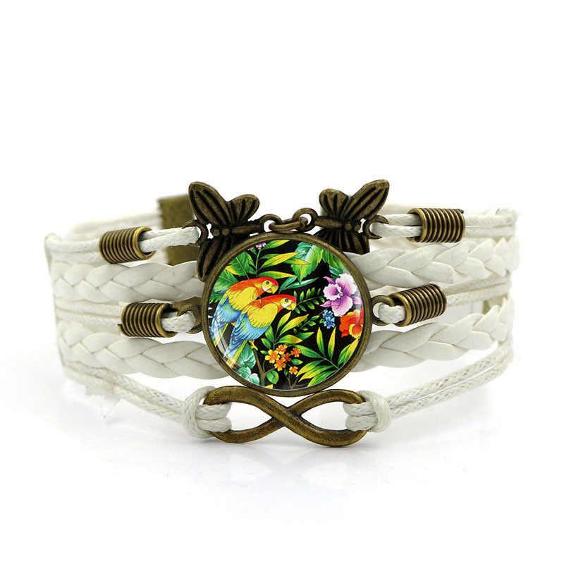 Новинка 2018, новый мужской браслет, винтажная бабочка, неограниченный символ, комбинированные браслеты для женщин, модные ювелирные изделия