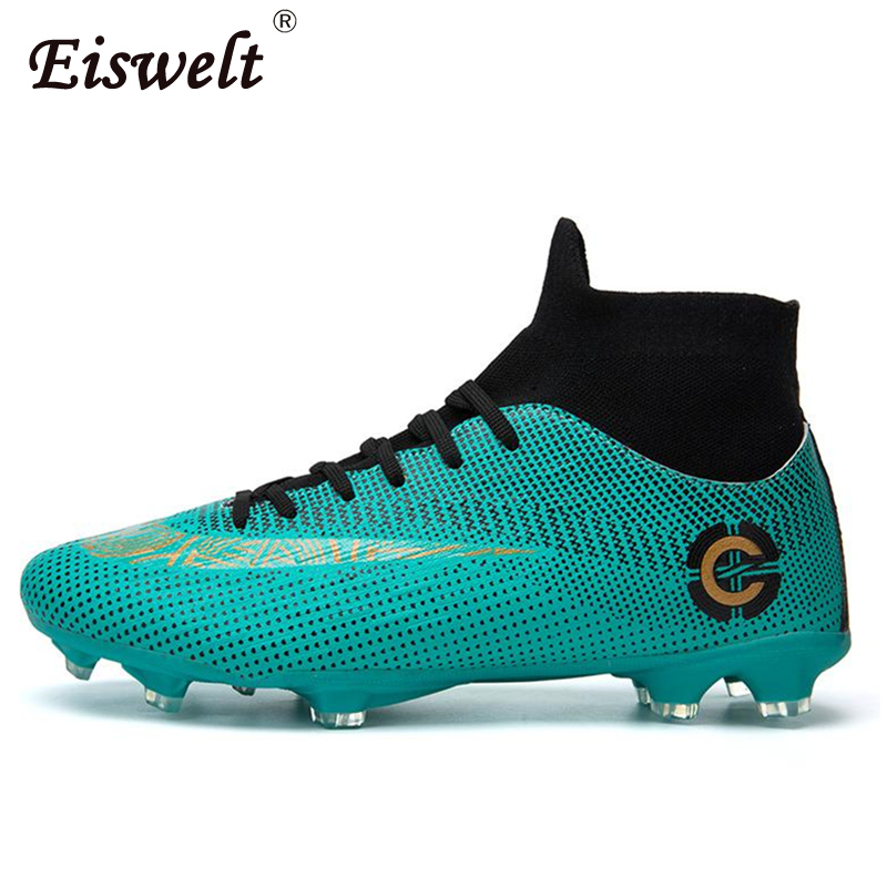 3ca2bc7962a EISWELT Adults Men s Outdoor Soccer Cleats Shoes High Top TF FG Football  Boots Training Sports Sneakers Shoes Plus Size 35-45