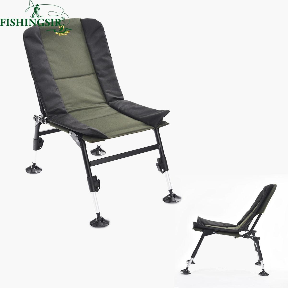 Fishing Chair With Adjustable Legs Armless Task Outdoor Portable Ultimate Breathable Folding Picnic Camping Chairs W Multifunctional Tackle