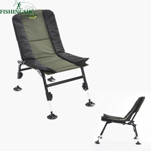 Outdoor Portable Ultimate Breathable Folding Picnic Fishing Camping Chairs w/ Adjustable Legs Multifunctional Tackle