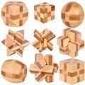 Бесплатная доставка 9 шт./лот 3D старинные деревянные игрушки Замок Магии головоломки Конг Мин Любань Блокировки Китайский Традиционный Обучения и Образования игрушка