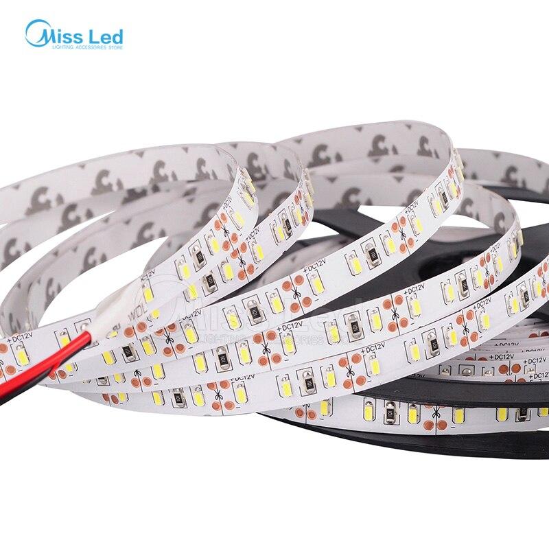5 м 3014 Светодиодные ленты, 168 светодиодов/м, 8 мм ширина, Теплый/натуральный белый, супер яркий гибкий свет, SMD3014, Водонепроницаемый, DC12V