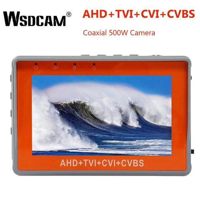 4.3 بوصة المعصم CCTV تستر 1080P كاميرا صغيرة محمولة تستر AHD TVI CVI CVBS تستر TFT LCD التناظرية اختبار الفيديو 12 فولت انتاج الطاقة