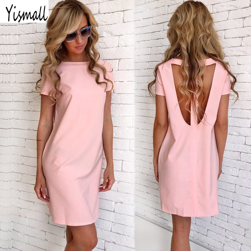 Sexy Women Summer Beach Casual Mini Party Dresses Yismall