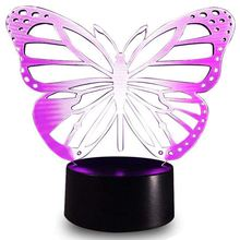 Brand New Baby Night Light Butterfly 7 Colors Change with Remote Birthday Gifts for Her Girl A or Animal Lover