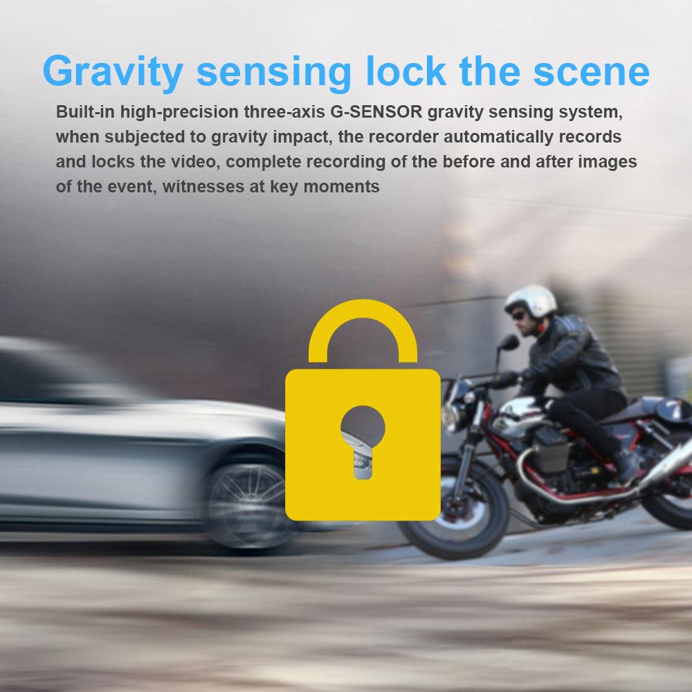 Fodsports M6L Moto DVR WiFi Double Caméra Dash Cam Avant 1080 p + 720 p Vue Arrière de Moto Caméra Moto conduite Enregistreur - 6