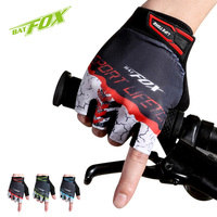 BATFOX Half Finger Cycling Gloves Unisex Road MTB Bike Gloves Breathable Anti-shock Sports Bicycle Gloves Nylon guantes ciclismo