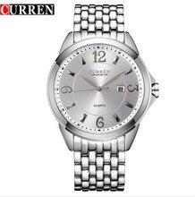 CURREN 8071 nouvelle mode casual quartz montre hommes grand cadran étanche chronographe releather montre-bracelet montres livraison gratuite
