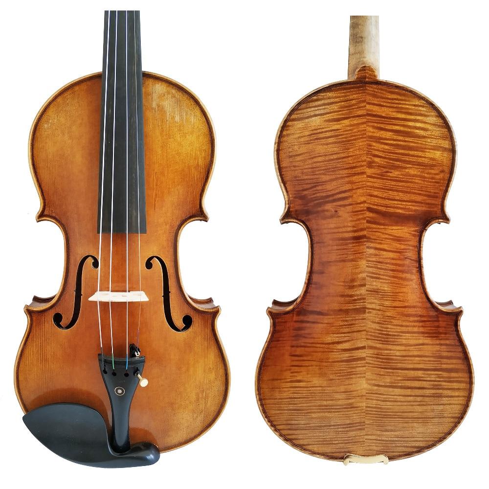 Free Shipping Copy Antonio Stradivari Cremonese 1716 Model Violin with Canvas Case and Brazil Bow Rosin