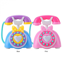 Kid Simulation Plastic Telephone Toy Electric Children Educational Gift Kids Music Phone Pretend Play Sound Learning Musical Toy(China)