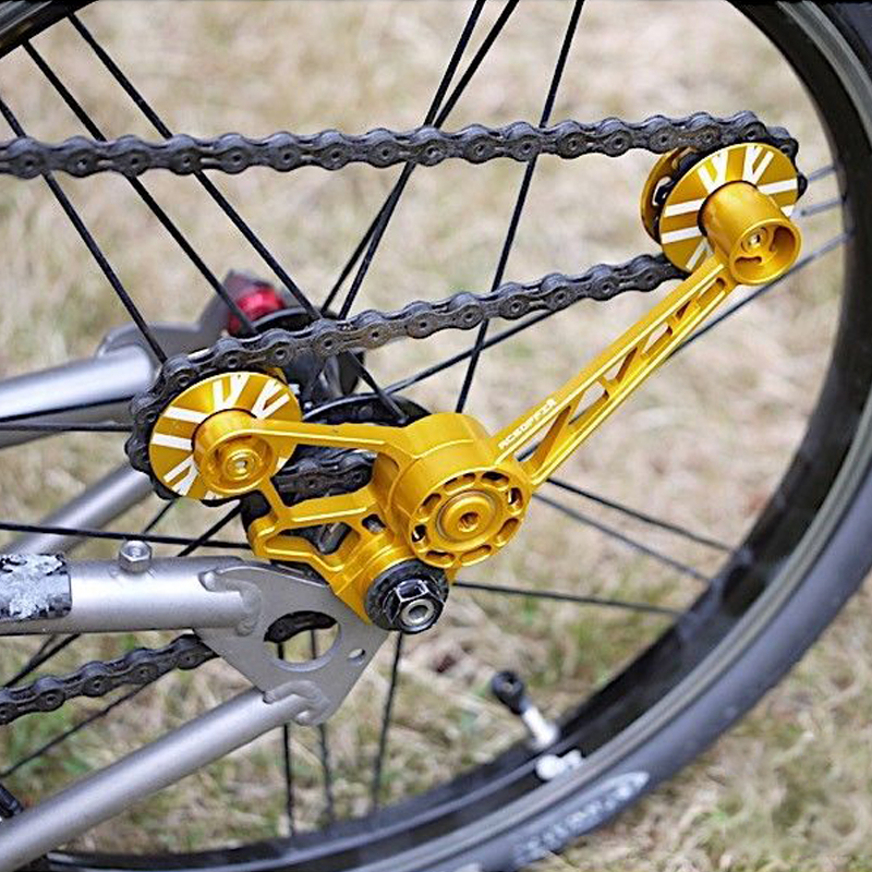 AGEKUSL Bike Chain Tensioner Wheel For Brompton Bicycle Derailleur Silent Nylon Gear CNC Aluminum Alloy Frame Super Light 42.8gAGEKUSL Bike Chain Tensioner Wheel For Brompton Bicycle Derailleur Silent Nylon Gear CNC Aluminum Alloy Frame Super Light 42.8g